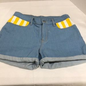 Custom Painted Levi's Denim Shorts